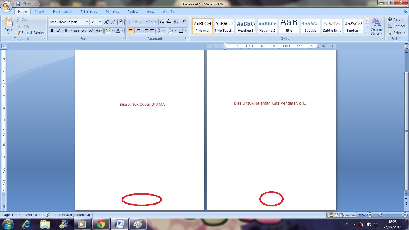 Membuat halaman cover + Halaman pertama (i) | Psycho