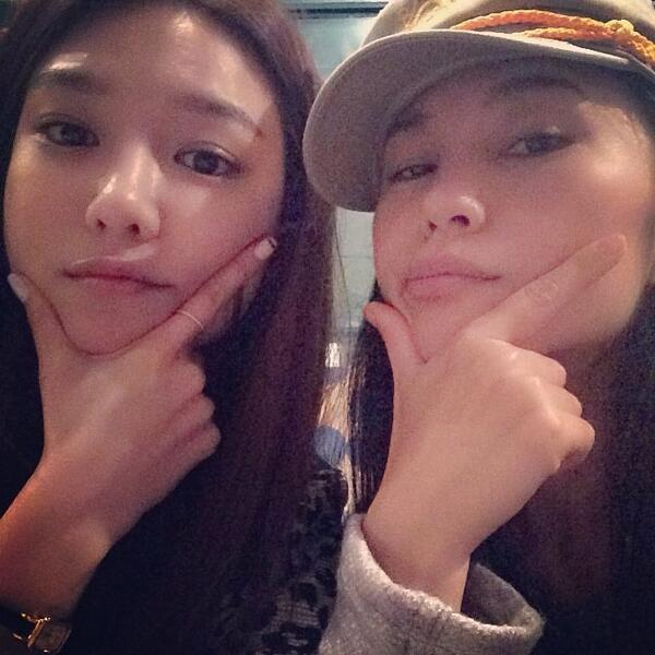 [140407] Sooyoung (SNSD) New Selca with Rinokinawa [1]