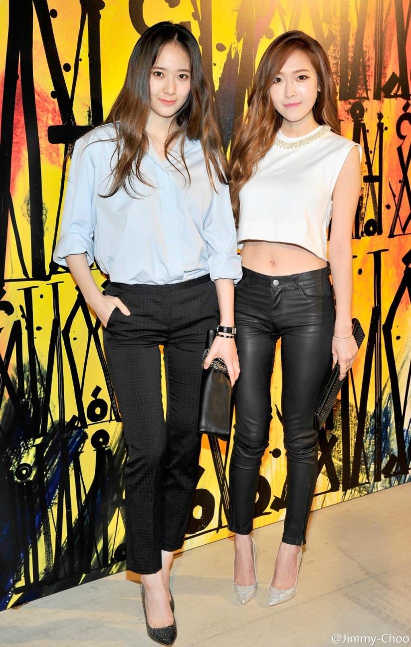 [140417] Jessica (SNSD) & Krystal (F(x)) New Selca via Jimmy Choo [1]