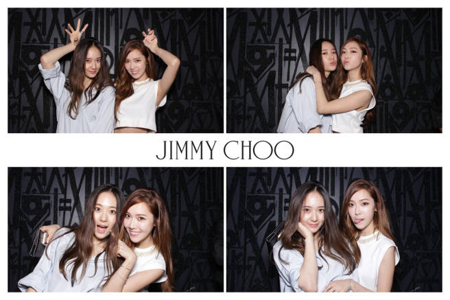 [140425] Jessica (SNSD) and Krystal (F(x)) New Picture @ Jimmy Choo Launch Event
