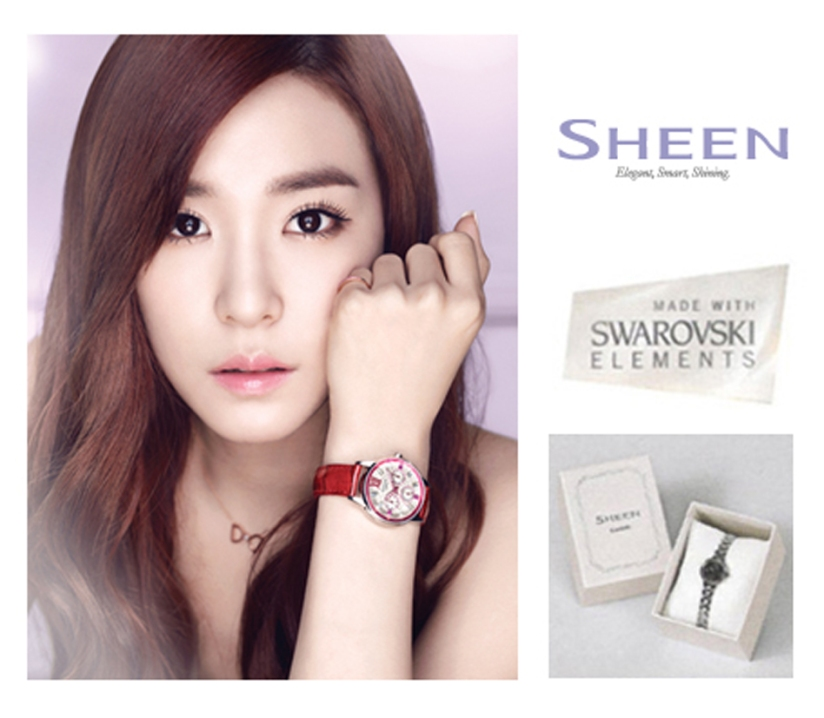 [140428] Tiffany (SNSD) New Picture for Casio SHEEN CF (copy)