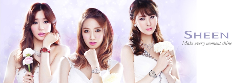 [140428] Tiffany, Yoona and Seohyun (SNSD) New Picture for Casio SHEEN CF (copy)