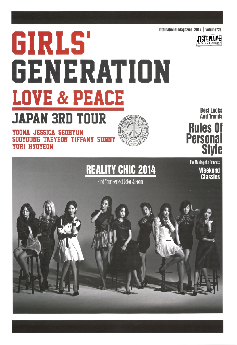 [140429] Girls' Generation (SNSD) for Pamphlet Girls' Generation 3rd Japan Tour (Scan) by JTsteplove
