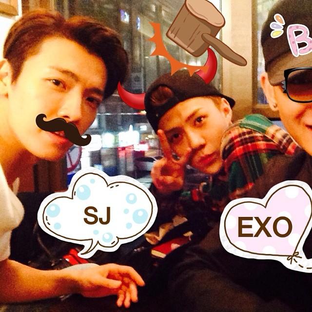[140508] Donghae (SuJu) New Selca with Sehun and Tao