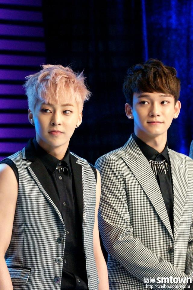 [140508] Xiumin and Chen @ Entertainment Star World  (娱乐星天地 ) [3]
