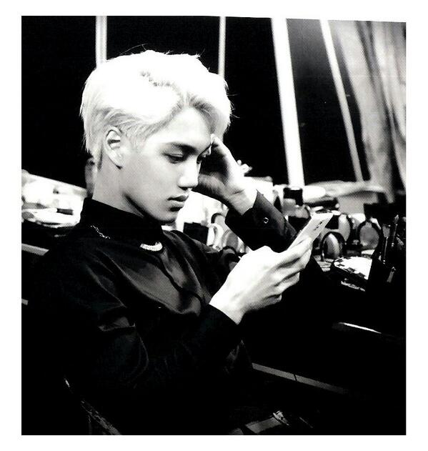 [140509] Kai (EXO) New Picture for Overdose Polarioid Picture (Scan) by manapia12 [2]