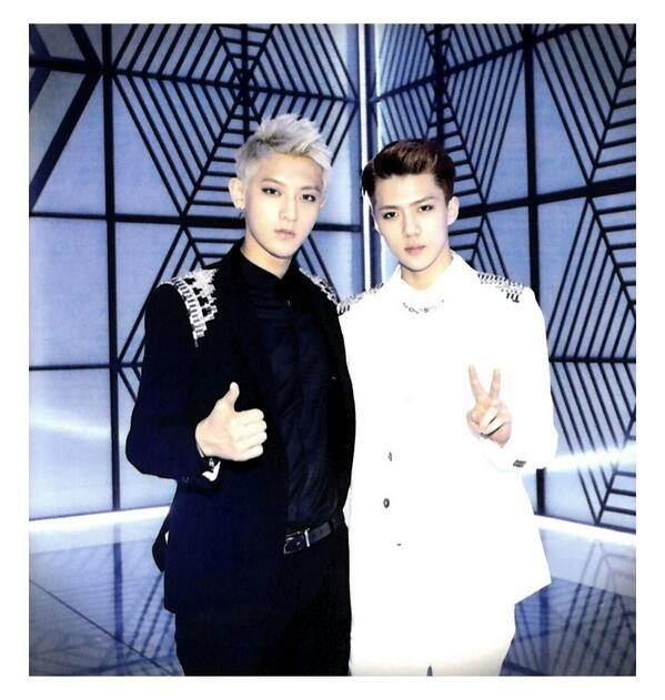 [140509] Tao and Sehun (EXO) New Picture for Overdose Polarioid Picture (Scan) by manapia12