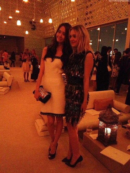 [140514] Yoona (SNSD) @ Chanel Cruise 2015 fashion show in Dubai with Dakota Fanning by ElleQuebec