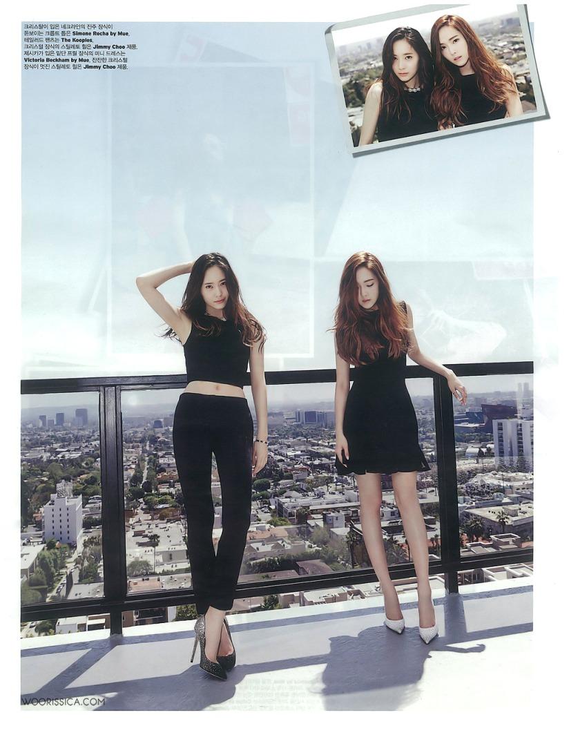 [140519] Jessica (SNSD) & Krystal (F(x)) @ W Korea Magazine Issue June (Scan) by Woorissica [4]