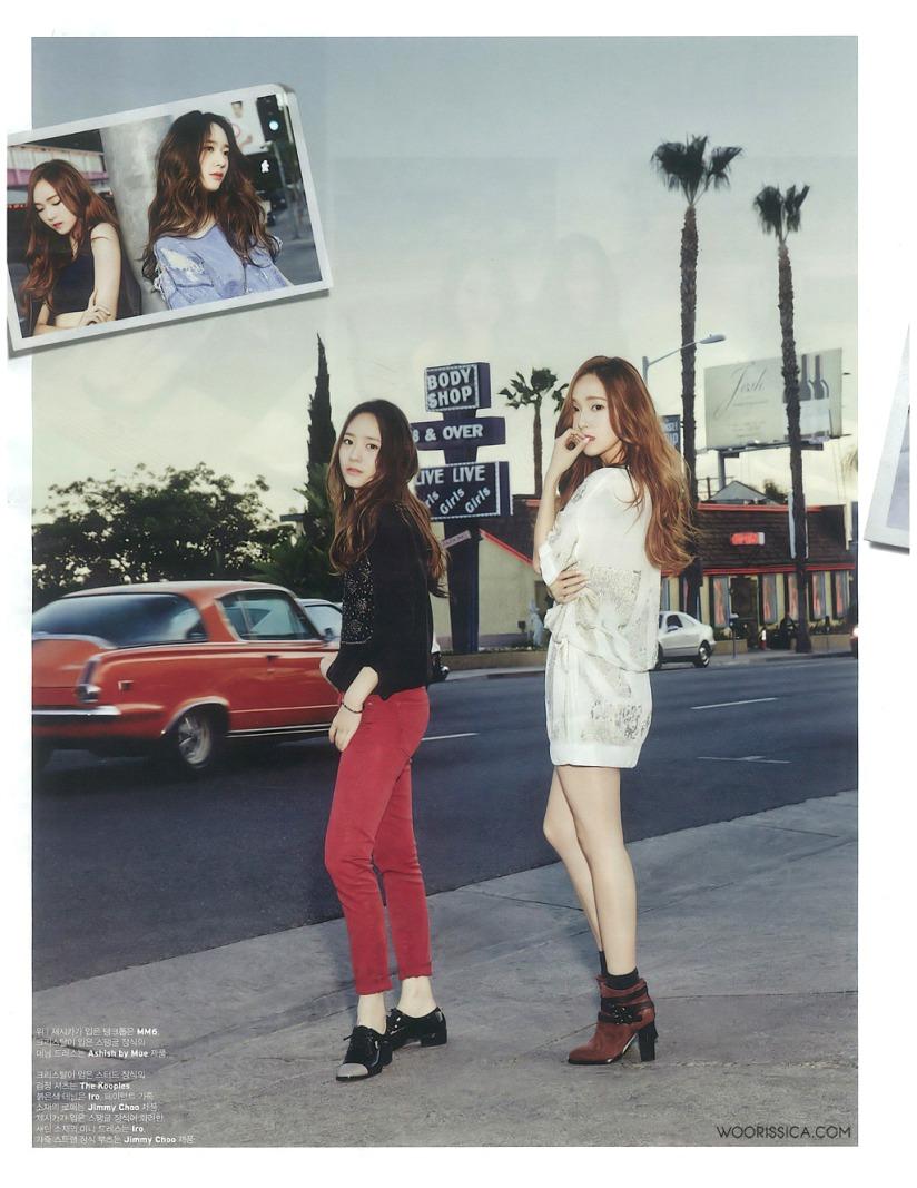 [140519] Jessica (SNSD) & Krystal (F(x)) @ W Korea Magazine Issue June (Scan) by Woorissica [5]