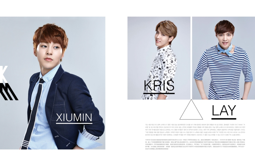 Xiumin, Kris and Lay