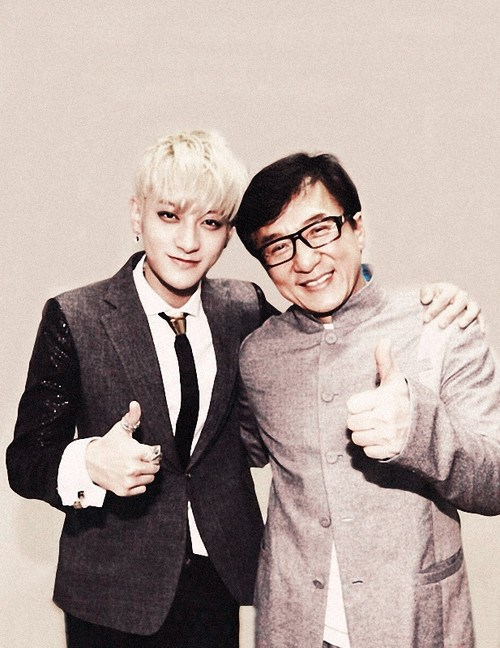 [140603] Tao (EXO) New Selca with Jackie Chan