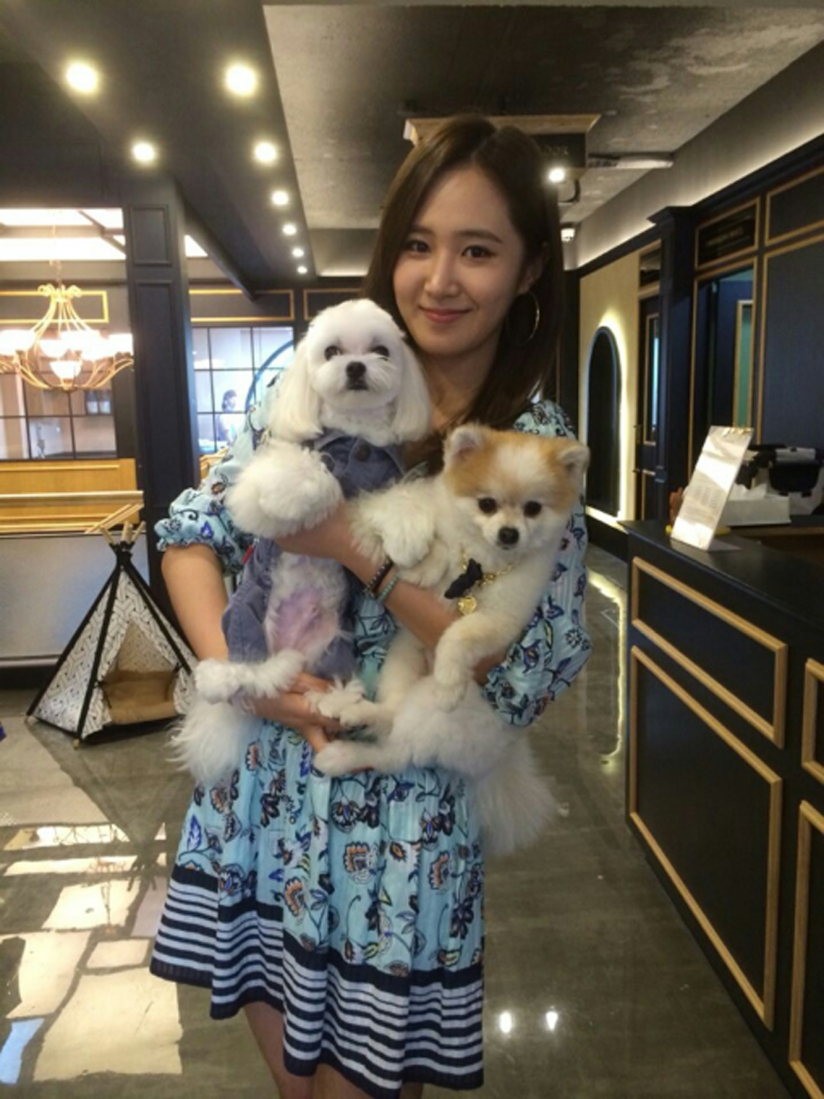 [140603] Yuri (SNSD) New Selca with Hani and Prince