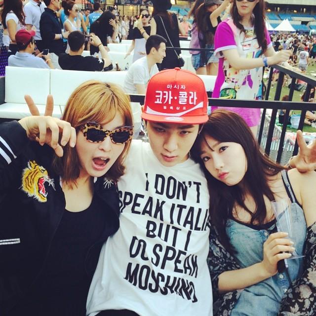 [140614] Key (SHINee) New Selca with Taeyeon and Nicole