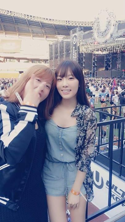 [140615] Taeyeon (SNSD) New Selca with 서수경 via 서수경's Facebook [2]
