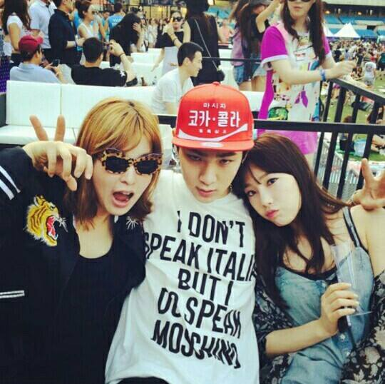 [140615] Taeyeon (SNSD) New Selca with Key (SHINee) and 서수경 via 서수경's Facebook [1]