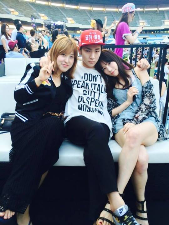 [140615] Taeyeon (SNSD) New Selca with Key (SHINee) and 서수경 via 서수경's Facebook [3]