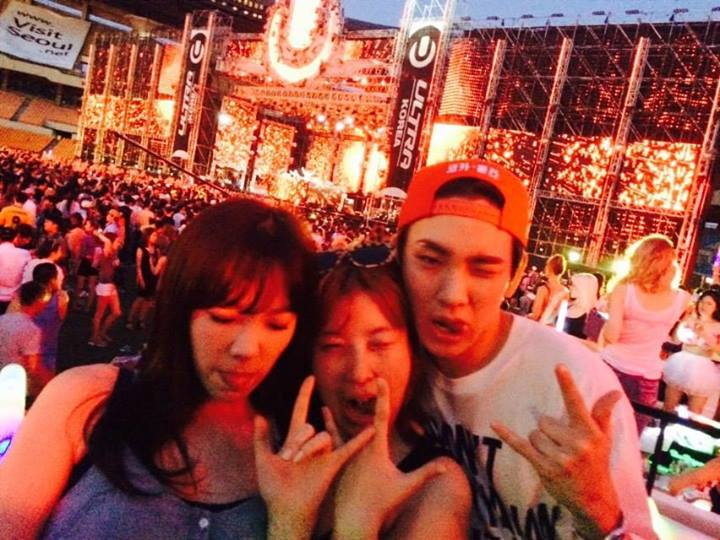 [140615] Taeyeon (SNSD) New Selca with Key (SHINee) and 서수경 via 서수경's Facebook [5]