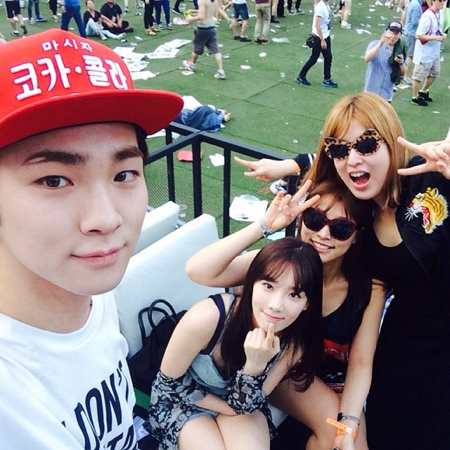 [140615] Taeyeon (SNSD) New Selca with Key (SHINee) via 서수경's Instagram [1]