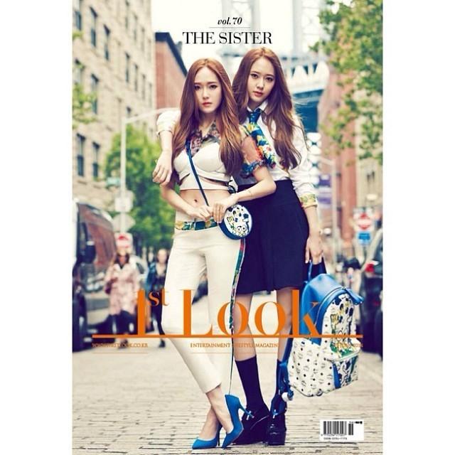 [140616] Jessica (SNSD) & Krystal (F(x)) @ 1stLook Magazine Vol.70