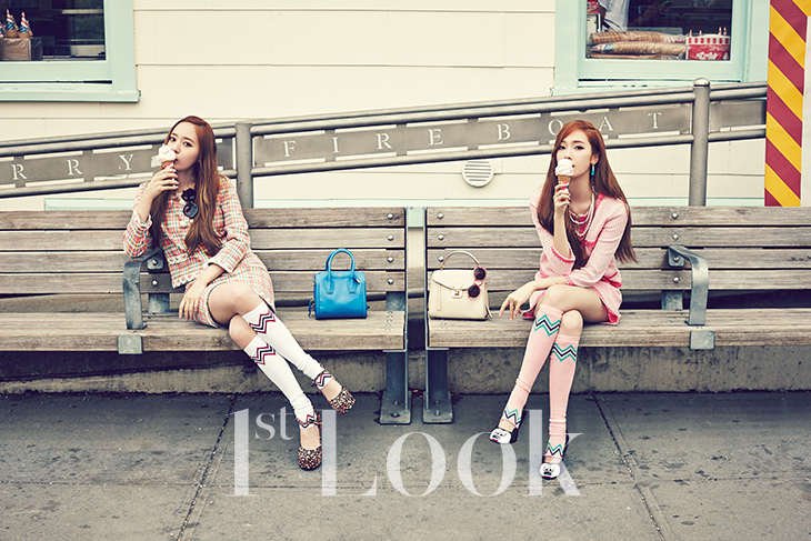 [140617] Jessica (SNSD) & Krystal (F(x)) @ 1st Look Magazine Vol.70 Issue July 2014 [5]