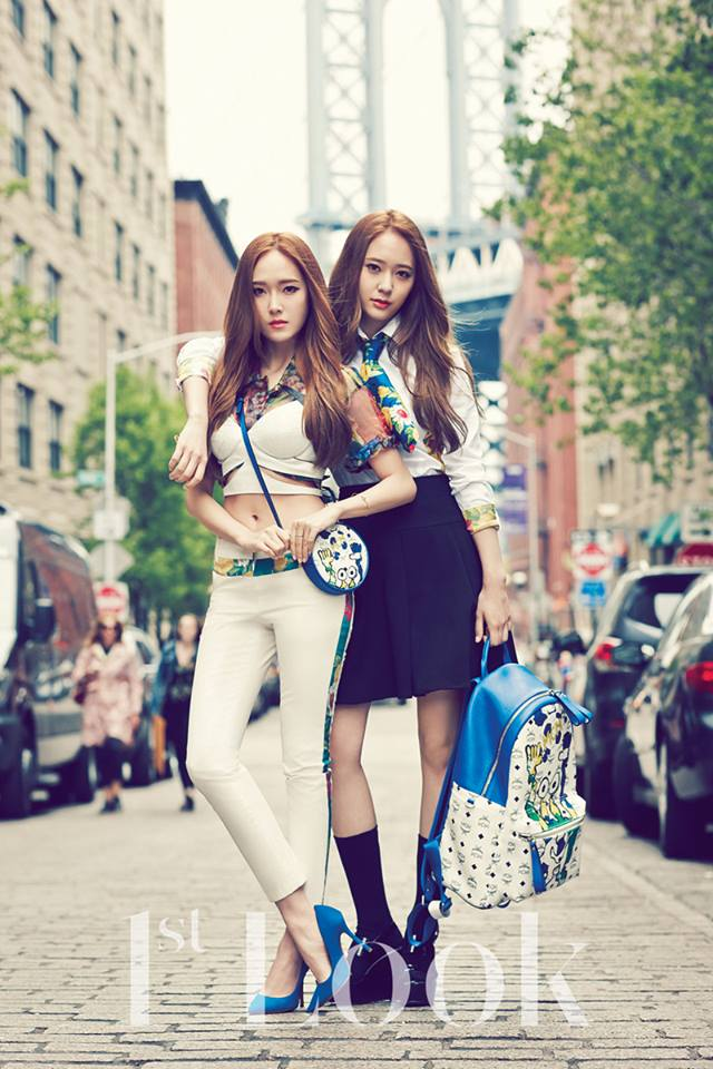 [140617] Jessica (SNSD) & Krystal (F(x)) @ 1st Look Magazine Vol.70 Issue July 2014 via OnStyle's Facebook [1]