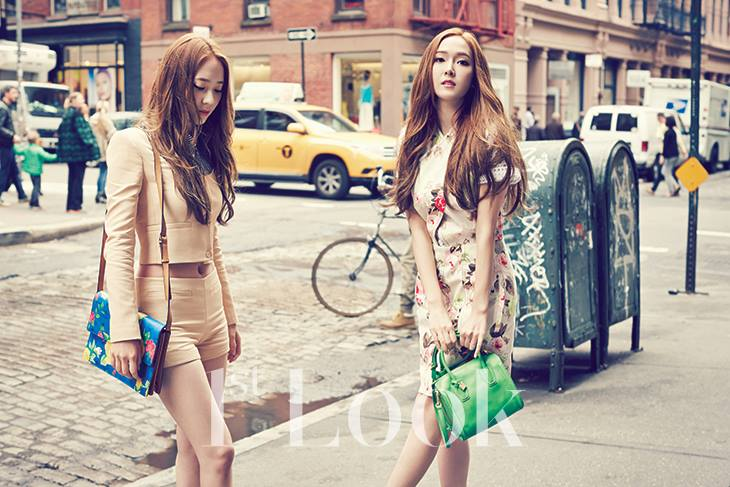 [140617] Jessica (SNSD) & Krystal (F(x)) @ 1st Look Magazine Vol.70 Issue July 2014 via OnStyle's Facebook [2]