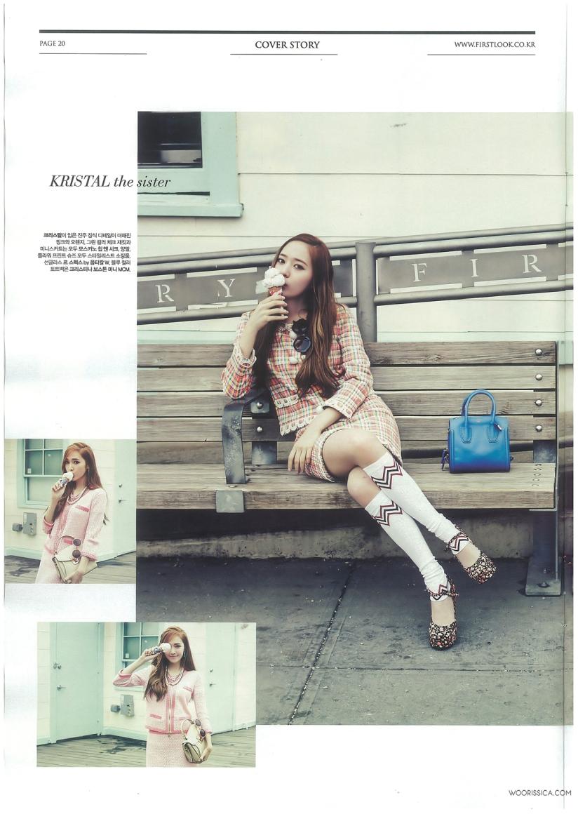 [140621] Jessica (SNSD) & Krystal (F(x)) @ 1st Look Magazine Vol.70 Issue July 2014 (Scan) by Woorissica [6]