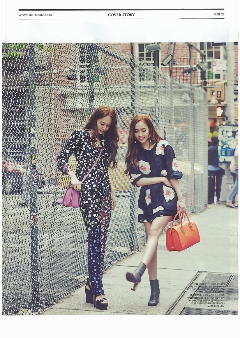 [140621] Jessica (SNSD) & Krystal (F(x)) @ 1st Look Magazine Vol.70 Issue July 2014 (Scan) by Woorissica [9]