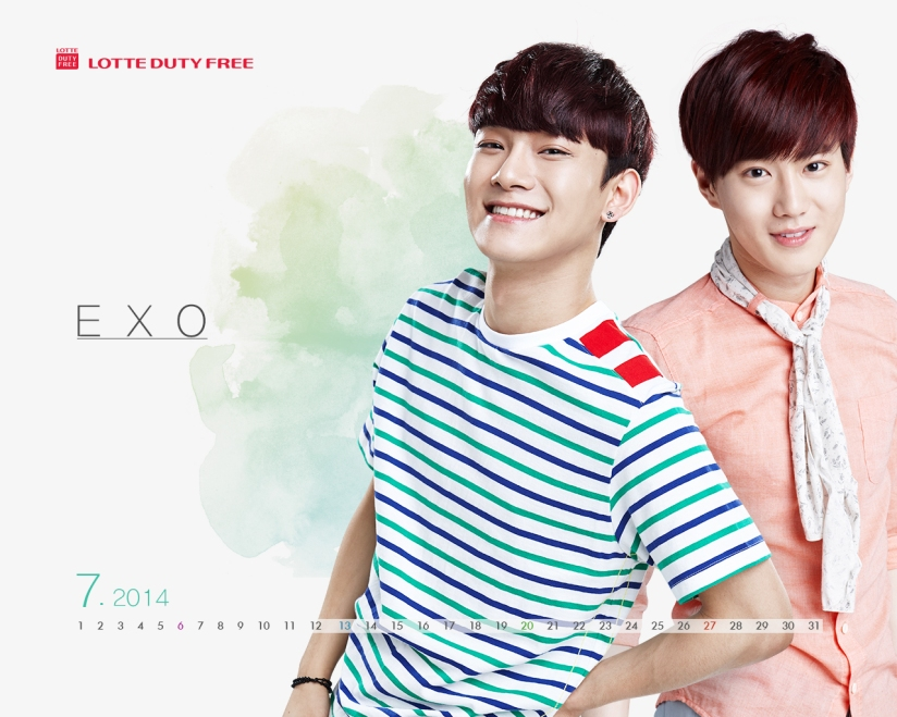 [140623] Chen & Suho (EXO) New Wallpaper for Lotte Duty Free CF [10]