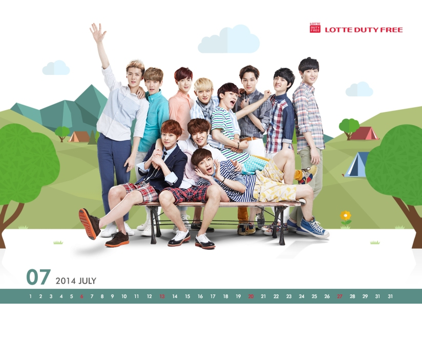 [140623] EXO New Wallpaper for Lotte Duty Free CF [9]