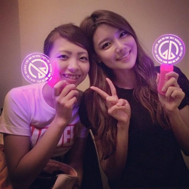 [140628] Sooyoung (SNSD) New Selca with Marina