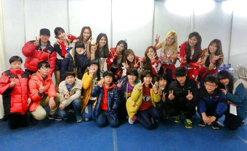[131227] Girls' Generation (SNSD) New Selca at BTS Märchen Fantasy Concert via Amis's Facebook