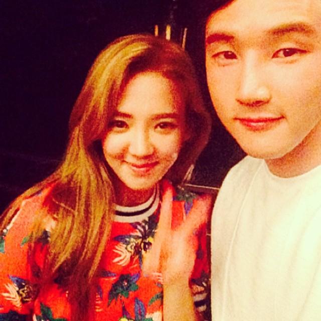 [140701] Hyoyeon (SNSD) New Selca with Jang MinKi via am07111's Instagram