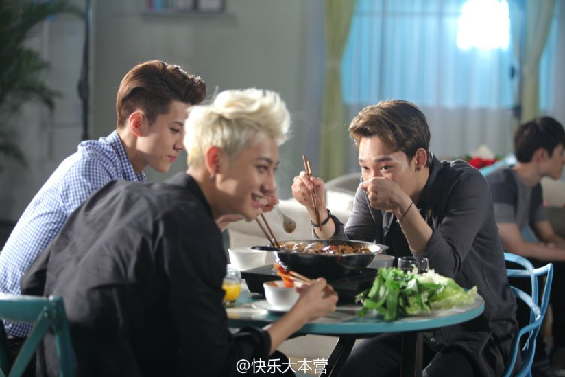 [140702] Chen, Tao & Sehun (EXO) New Picture for 快乐大本营 via 快乐大本营's Weibo [2]