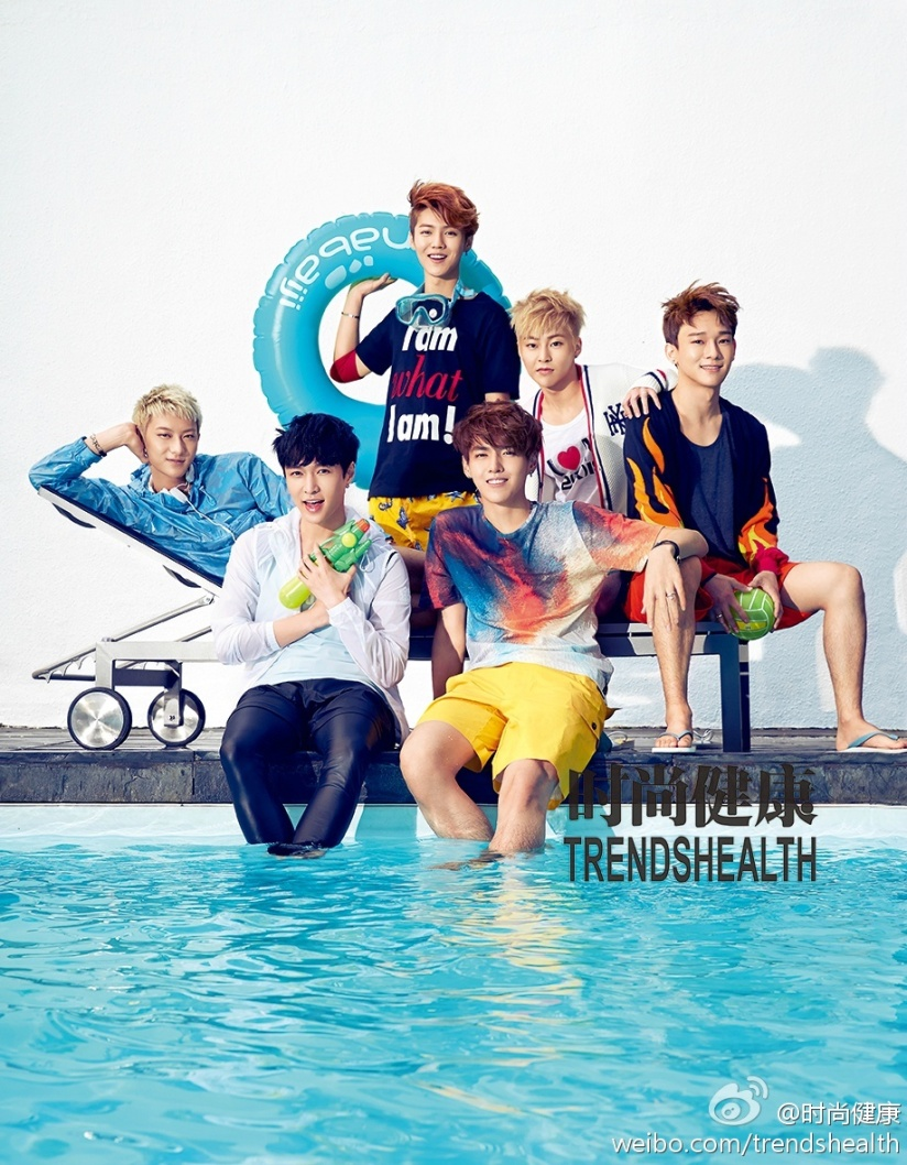 [140702] EXO-M New Picture for Trend Health Magazine Issue July 2014 by 时尚健康's Weibo