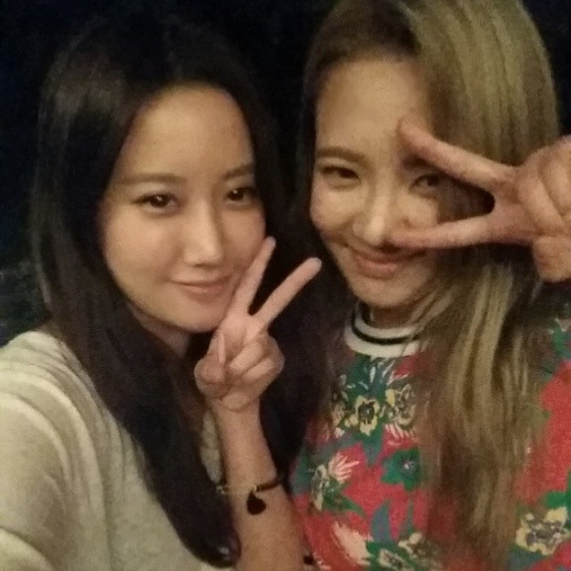 [140702] Hyoyeon (SNSD) New Selca with oh su kyung via oh_soooo's Instagram [1]