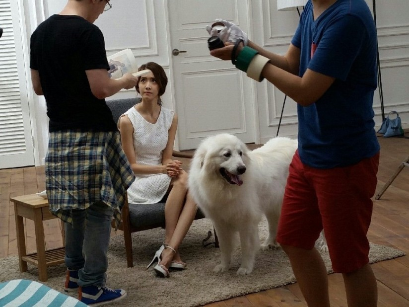 [140703] Yoona (SNSD) New BTS Picture for Innisfree CF via Petsasfamily's Cafe Naver [3]