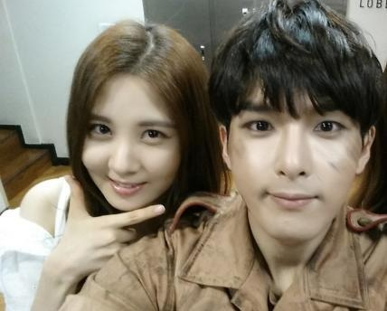 [140708] Seohyun (SNSD) New Selca with Ryeowook via Ryeowook's Twitter