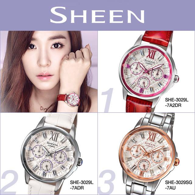 [140710] Tiffany (SNSD) New Picture for Casio SHEEN CF