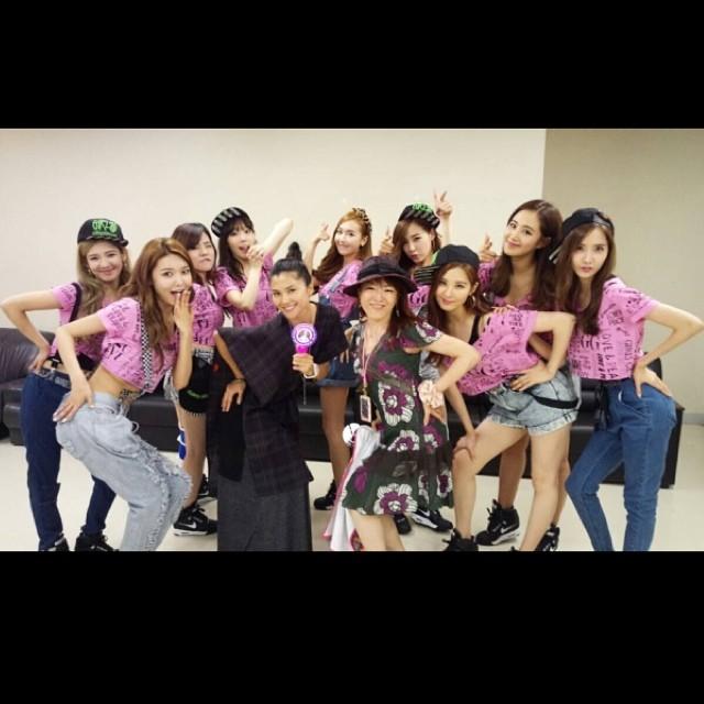 [140713] Girls' Generation (SNSD) New Selca with Rino Nakasone via rinokinawa's instagram