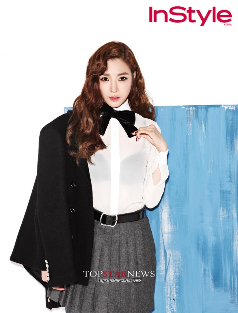[140717] Tiffany (SNSD) @ InStyle Magazine Issue Agustust 2014 via TopStarNews [1]
