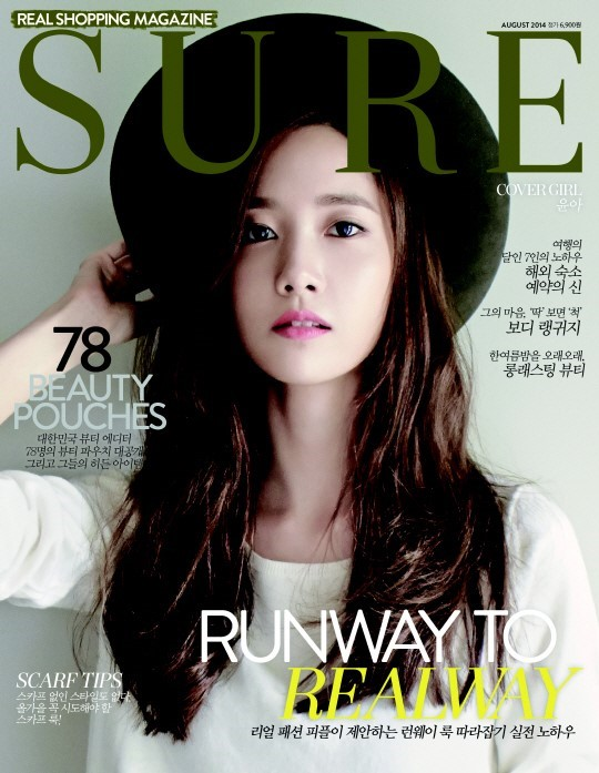 [140718] Yoona (SNSD) @ SURE Magazine Issue Agustust 2014 via Naver [1]