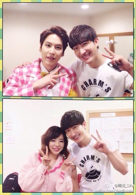 [140719] Sunny (SNSD) New Selca with Zhoumi via Zhoumi's weibo