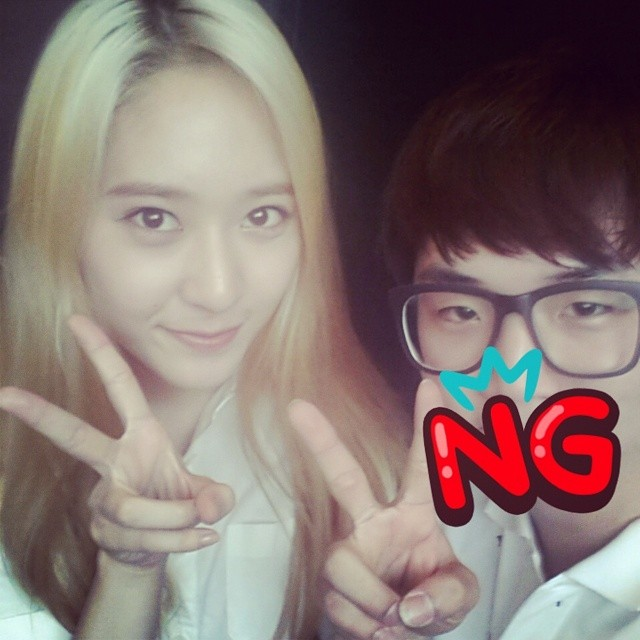[140722] Krystal (F(x)) New Selca via huikyum's Instagram
