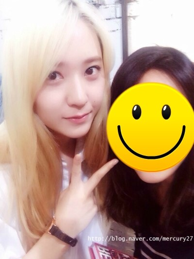[140722] Krystal (SNSD) New Selca via mercury27's Naver Blog