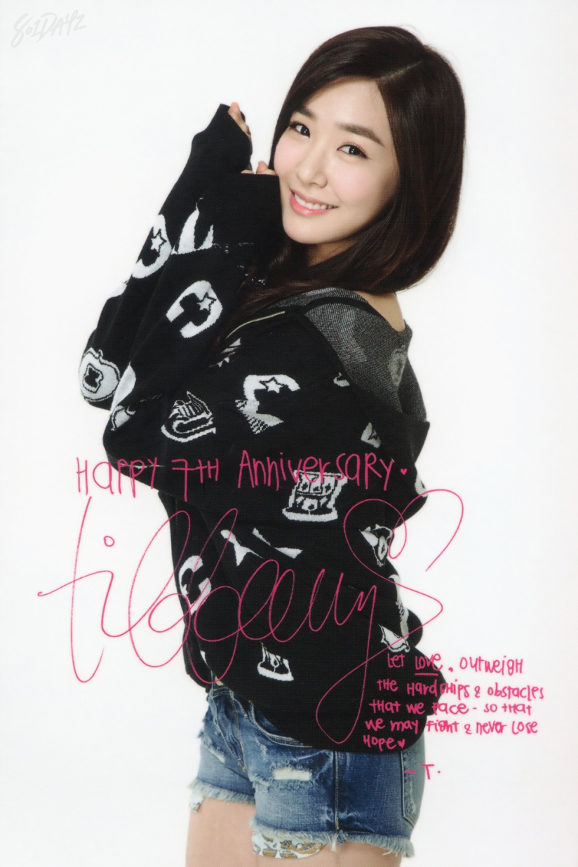 [140728] Tiffany (SNSD) New Picture for Debut 7th Anniversary Party Message Cards (Scan) by 801dayz