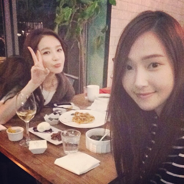 [140729] Jessica (SNSD) New Selca with Kang Min Kyung via iammingki's instagram