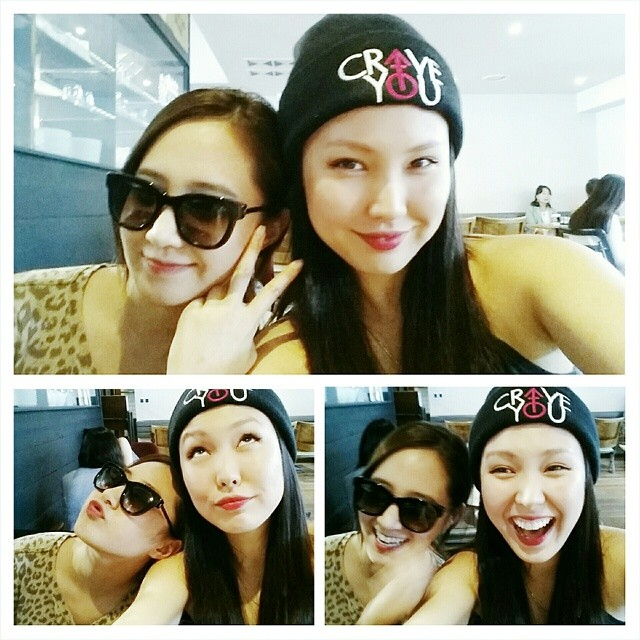 [140730] Yuri (SNSD) New Selca with Bekah via superbek's instagram