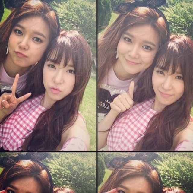 [140801] Sooyoung (SNSD) New Selca with Tiffany